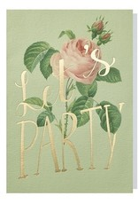 Papette Papette greeting card wild flowers ' Let's party'
