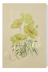 Papette Papette greeting card wild flowers ' Let's celebrate'