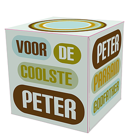 Mail-Box Tissuebox 'Peter / Parrain / Godfather'