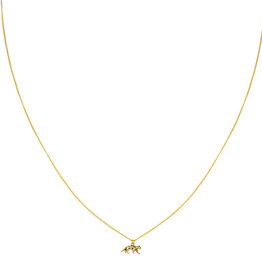 With love Necklace lucky leopard gold