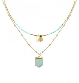 With love Necklace inner strength - gold blue