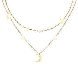With love Necklace intergalactic gold