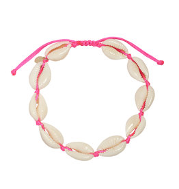 With love Anklet shell beach - pink