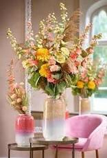 Florissima Ceramic vase grey - coral 18.5 x 31.5 cm