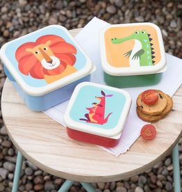Rex London Set of 3 snack boxes colourful creatures