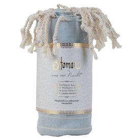 Spa & wellness towel - baby blue - white