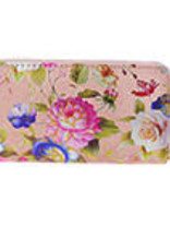 With love Wallet large - satin flowers