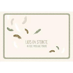 Enfant Terrible Enfant Terrible card + enveloppe 'Liefs en sterkte in deze moeilijke periode'