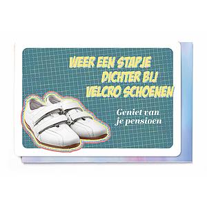 Enfant Terrible Enfant Terrible card + enveloppe 'een stapje dichter bij velcro schoenen'