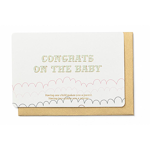 Enfant Terrible Enfant Terrible card  + enveloppe 'Congrats on the baby'