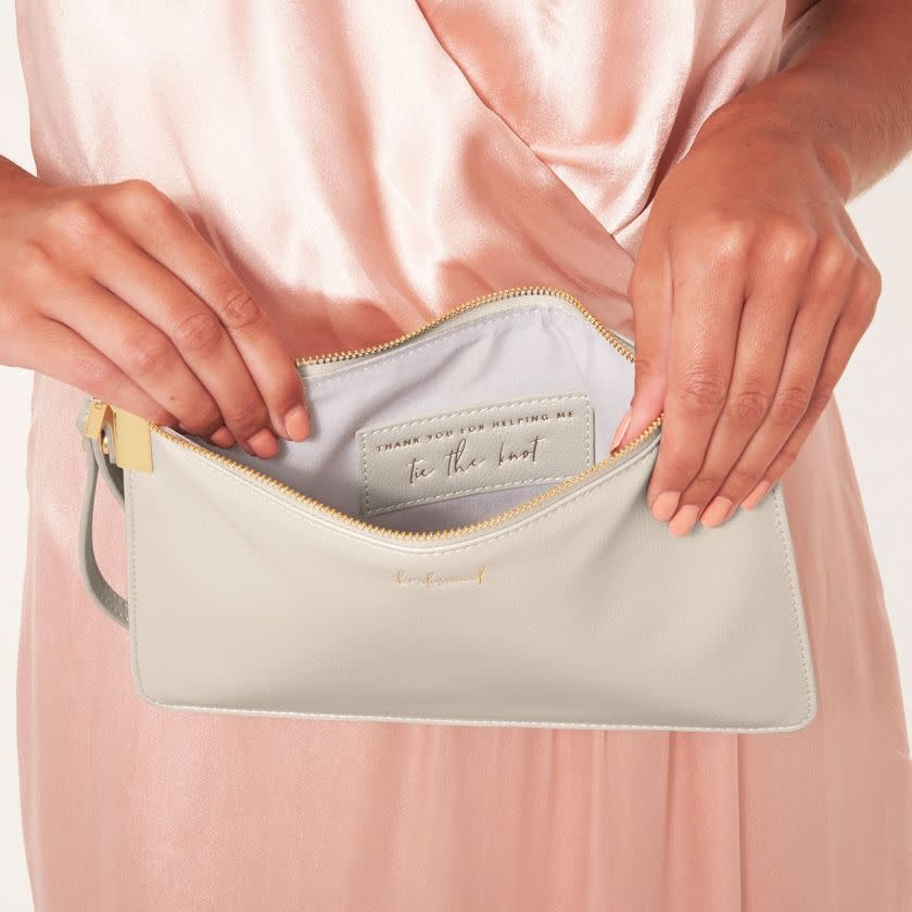 Katie Loxton Katie Loxton secret message pouch - bridesmaid - Thank you for helping me tie the knot - 16 x 24 cm
