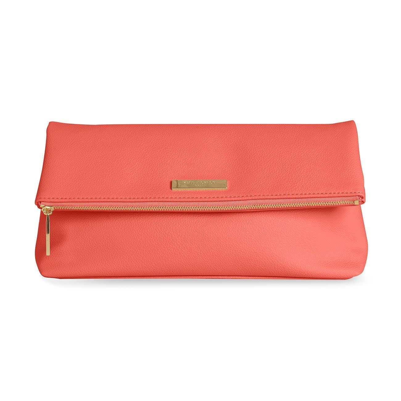 Katie Loxton Katie Loxton Alice soft pebble fold over clutch - coral 14.5 x 28 x 7 cm