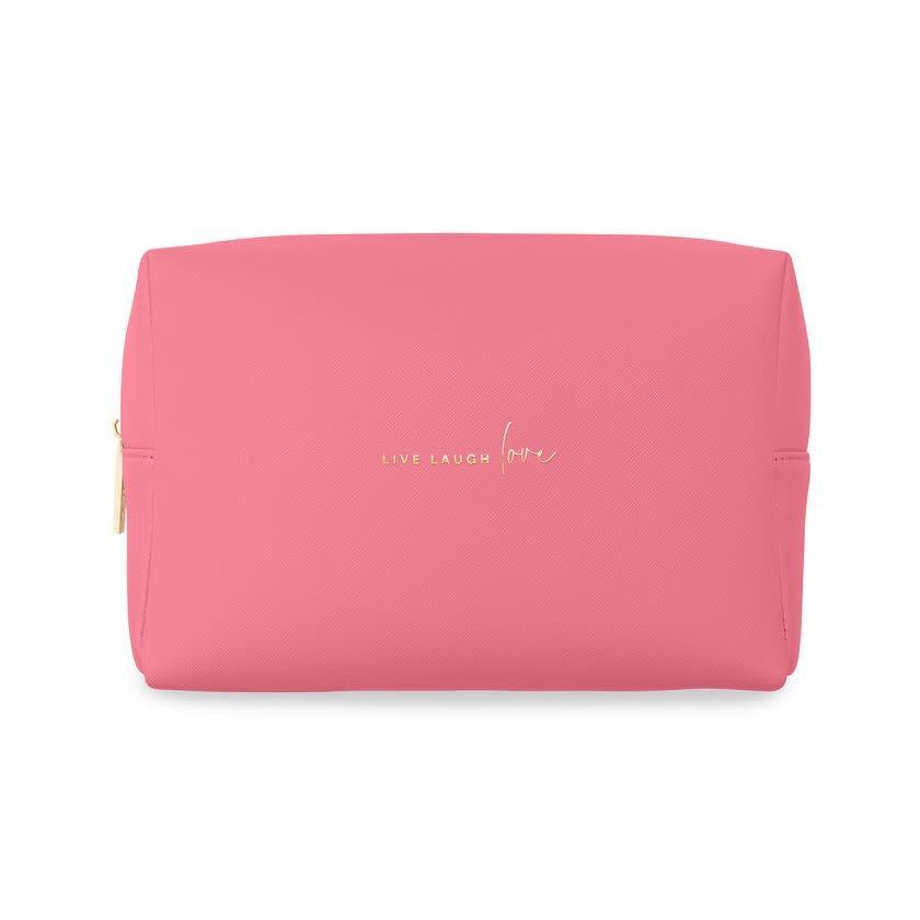 Katie Loxton Katie Loxton wash bag - live love laugh - hot pink 16 x 24 x 8 cm