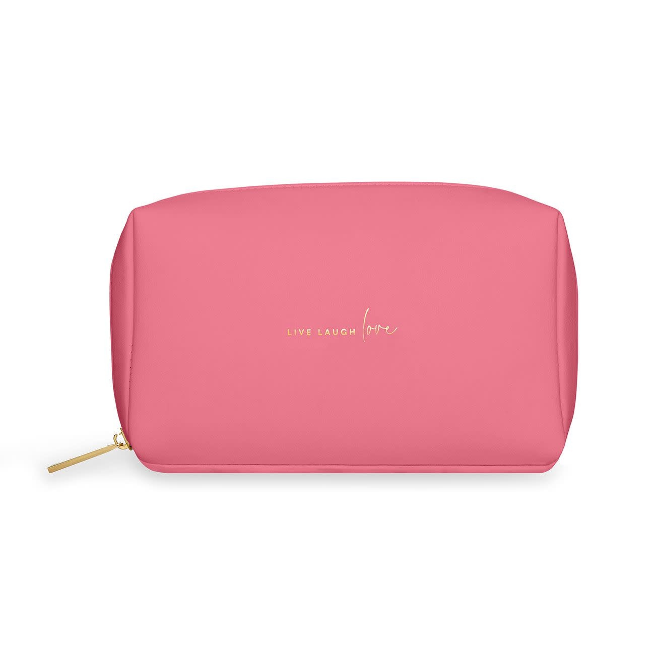 Katie Loxton Katie Loxton make up bag - live love laugh - hot pink 12 x 21 x 7 cm