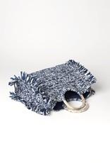 Beck Söndergaard Mix Falka bag - Medieval blue 32 x 40 cm - straw