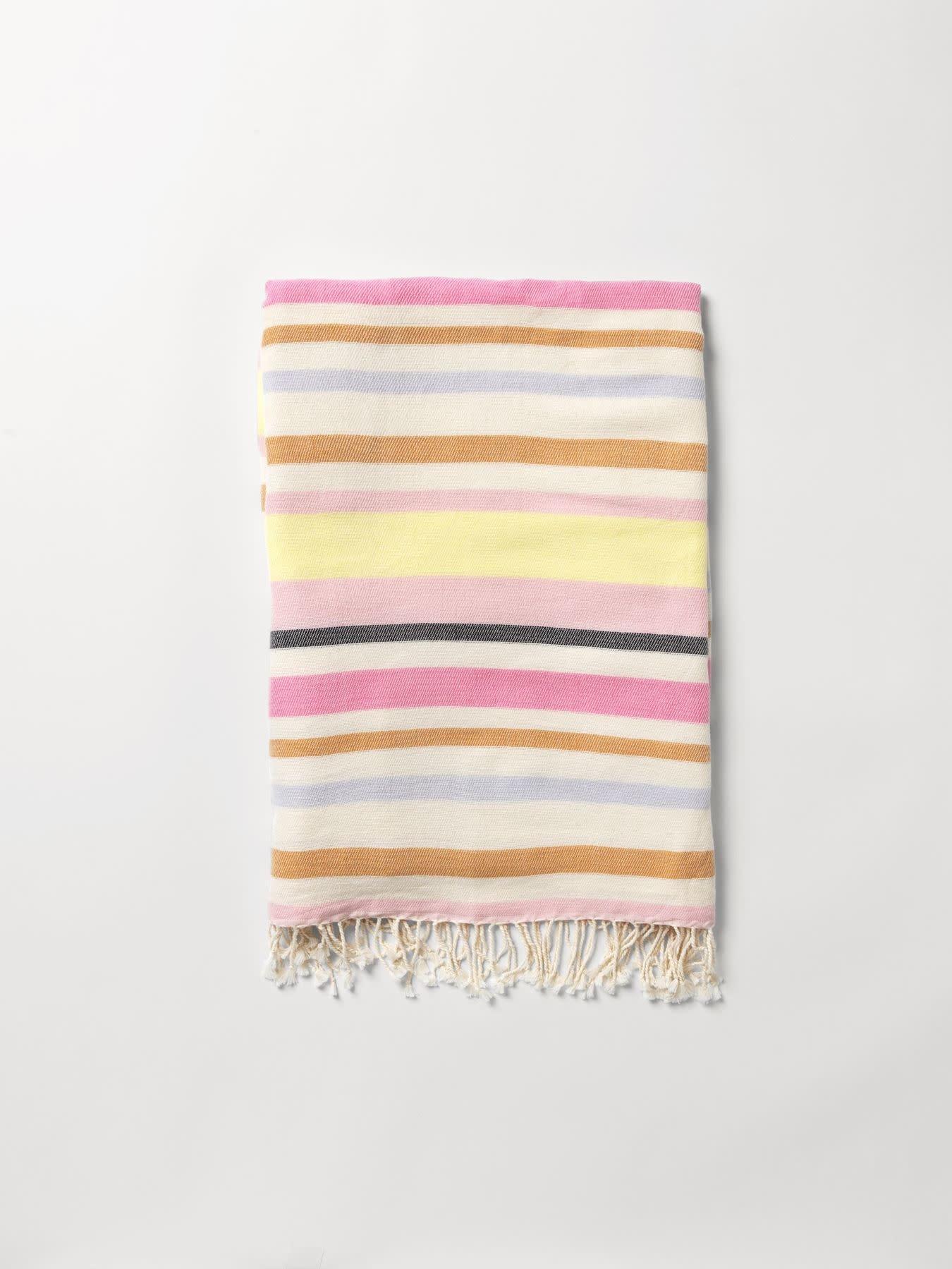 Beck Söndergaard Redwing cotton beach towel - Soft yellow 100 x 200 cm