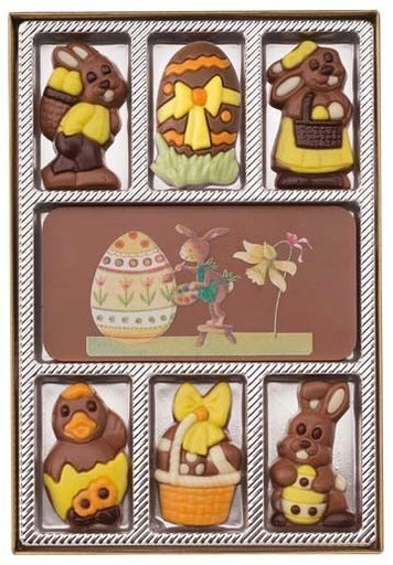 Giftbox easter chocolates 100 gr.