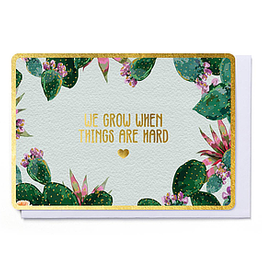 Enfant Terrible Enfant Terrible card  + enveloppe 'We grow when things are hard'