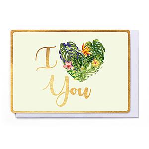 Enfant Terrible Enfant Terrible card  + enveloppe 'I love you'