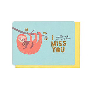Enfant Terrible Enfant Terrible card  + enveloppe 'I miss you, really wish you were here'