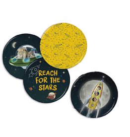 Enfant Terrible Set of 4 magnets 'Space'