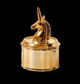 Rice Rice porcelain jewelry box Unicorn - gold 18 x 11.50 cm