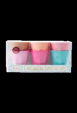 Rice Rice melamine 6 espresso cups 5.5 x 6 cm