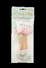 Rice party stick unicorn & rainbow shape
