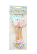 Rice Rice party stick unicorn & rainbow shape