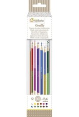 Avenue Mandarine Tube of 12 double-ended colored pencils