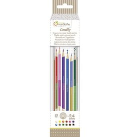 Avenue Mandarine Tube of 12 double-ended colored pencils