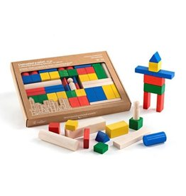 Milaniwood Colored building blocks - Maxi 51 pcs. 30.5 x 18.5 x 3.5 cm