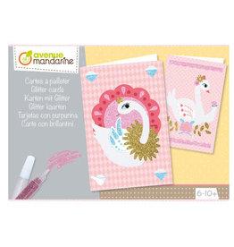 Avenue Mandarine Creative box -5  glitter cards + enveloppes