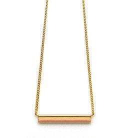 Nadja Carlotti Gold plated necklace Stella - Peach