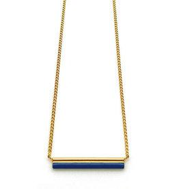 Nadja Carlotti Necklace Sparkle gold plated - Prussian blue