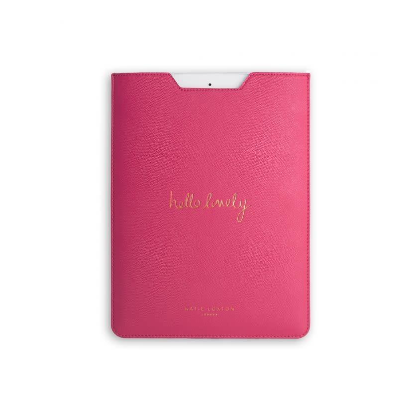 Katie Loxton Katie Loxton ipad sleeve - hello lovely - fushia 25 x 18.8 cm