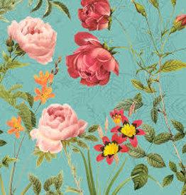 20 napkins 'Avantgarde' turquoise 33x33 cm