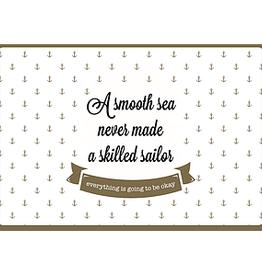 Enfant Terrible Enfant Terrible card  + enveloppe 'A smooth sea never made a skilled sailor'