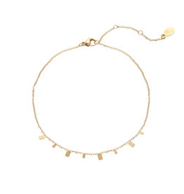 With love Anklet rectangle confetti gold