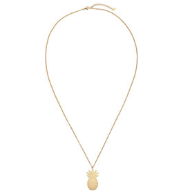 With love Necklace pineapple gold