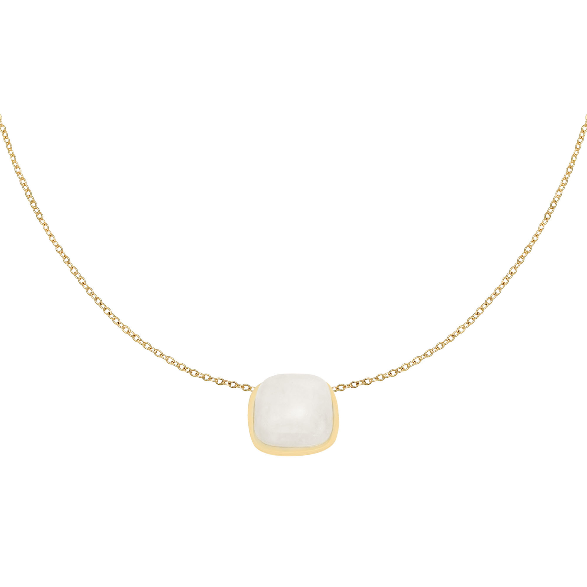 With love Necklace in nature - white