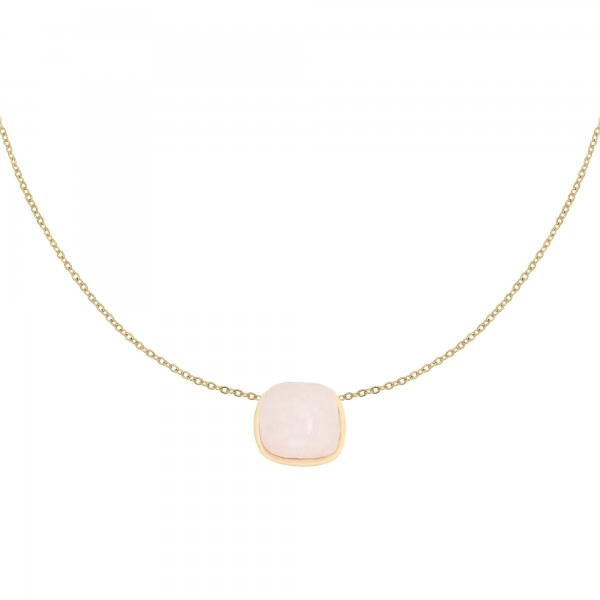 With love Necklace in nature - pink