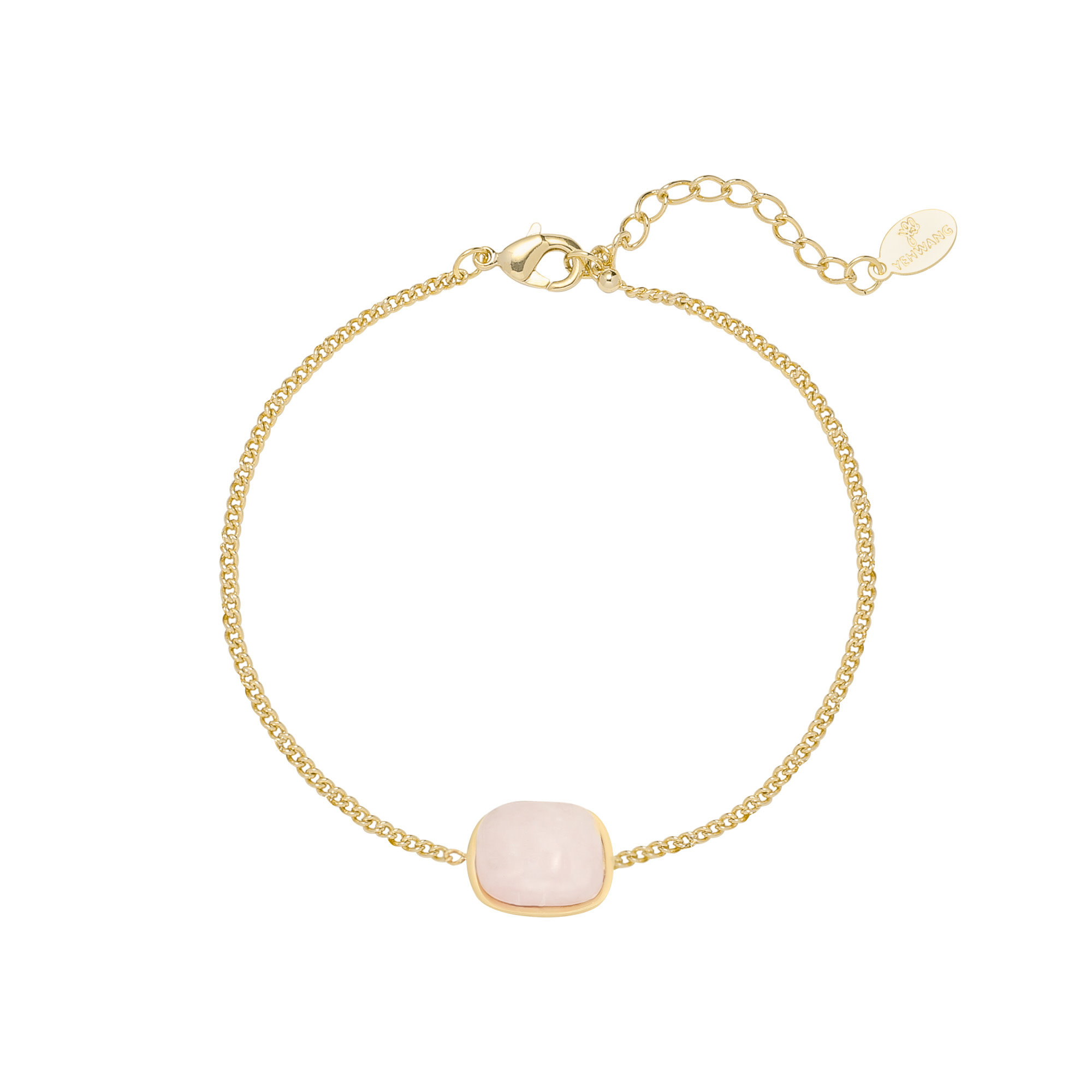 With love Bracelet in nature - pink