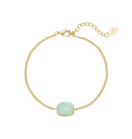 With love Bracelet in nature - turquoise