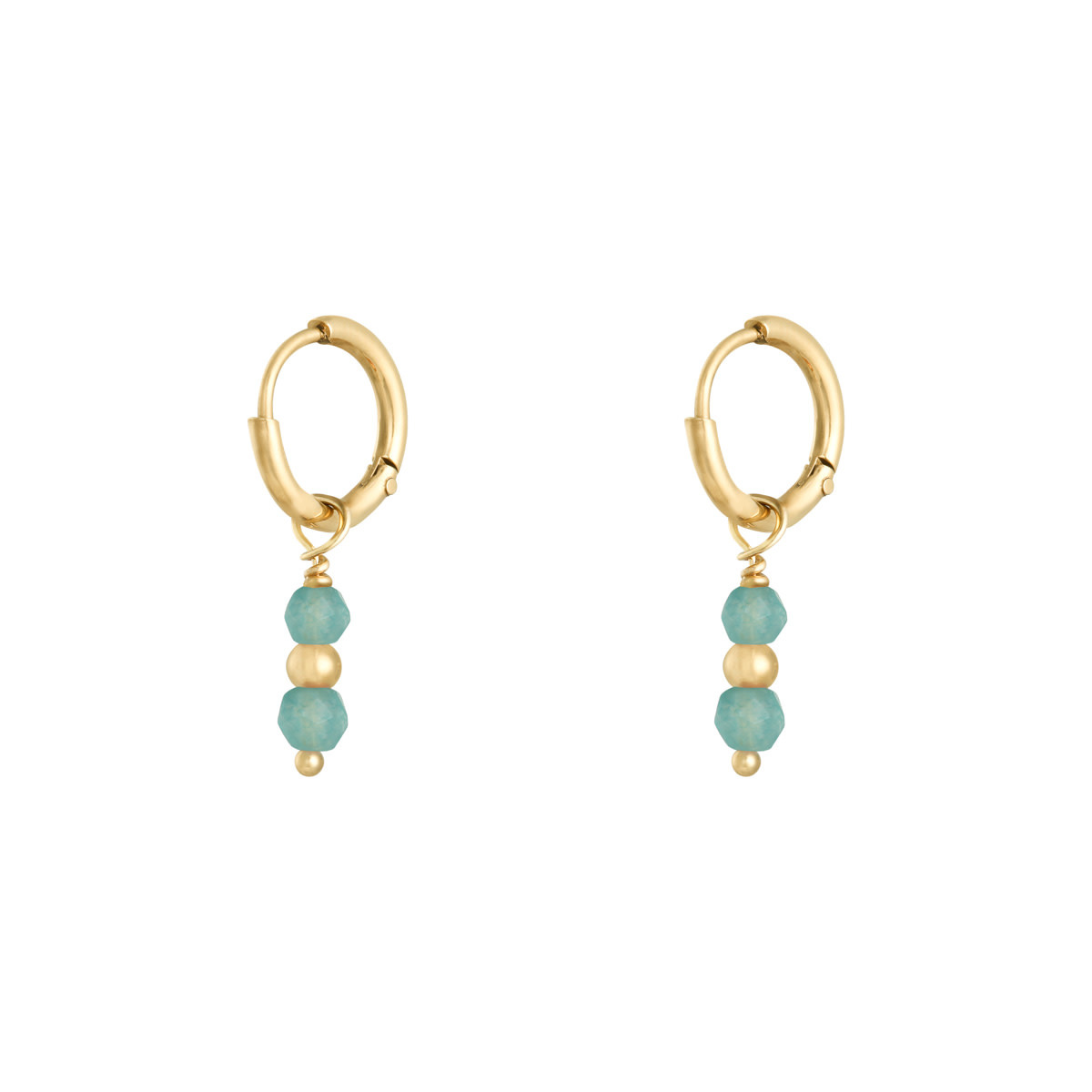 With love Earrings pineapple turquoise