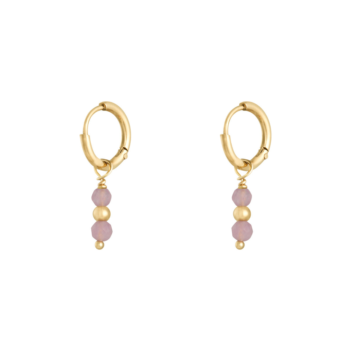 With love Earrings pineapple pink