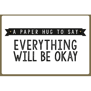 Enfant Terrible Enfant Terrible card  + enveloppe 'A paper hug to say everything will be okay'
