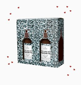 The Gift Label Gift box men - 'You are my favorite' hand soap & body wash