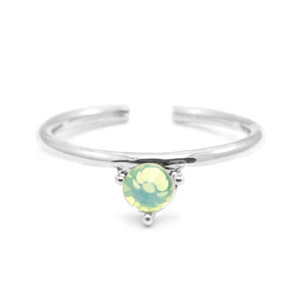With love With Love ring one size - silver - green