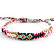 With love Brazilian bracelet multicolor orange - pink